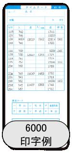 カルコロ100_6000S印字例